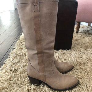 Guess Tan Riding Boots, 9!